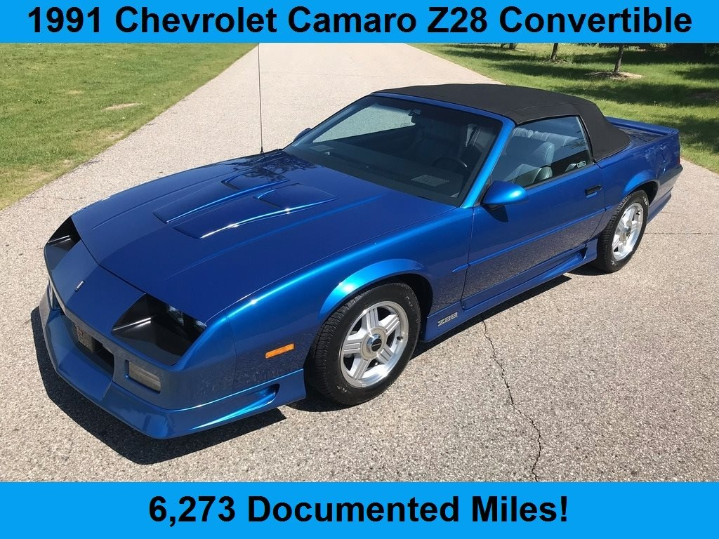 1991 Chevrolet Camaro Z28 Convertible Only 6 273 Miles