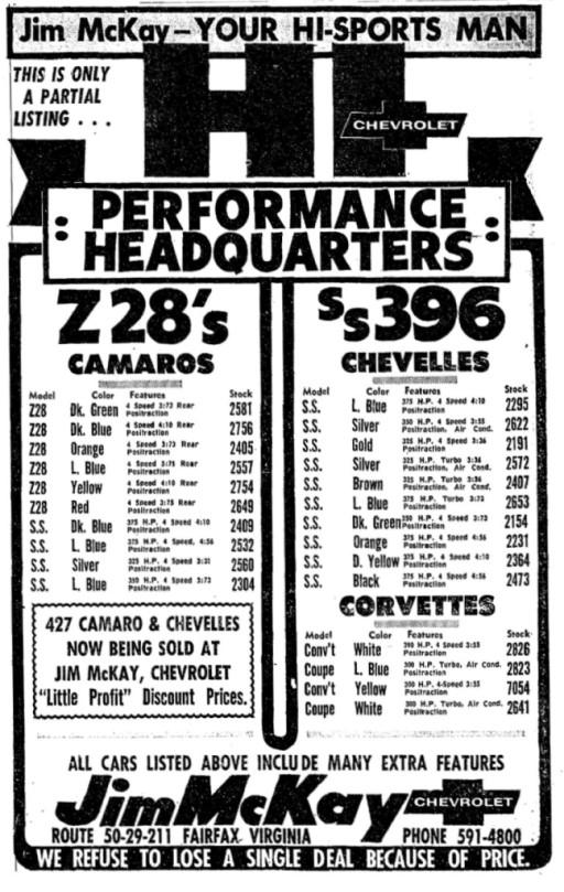 Jim Mckay Chevrolet Page 2 The Supercar Registry