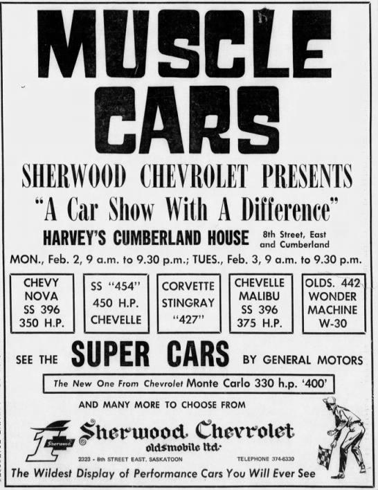 Sherwood Chev Saskatoon >> Sherwood Chevrolet Olds In Saskatoon Canada The Supercar Registry