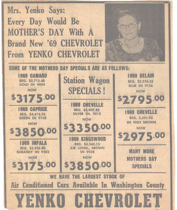 Check out these old dealer ads